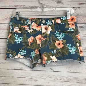 Aeropostale Tropical Flower Midi Shorts Size 6